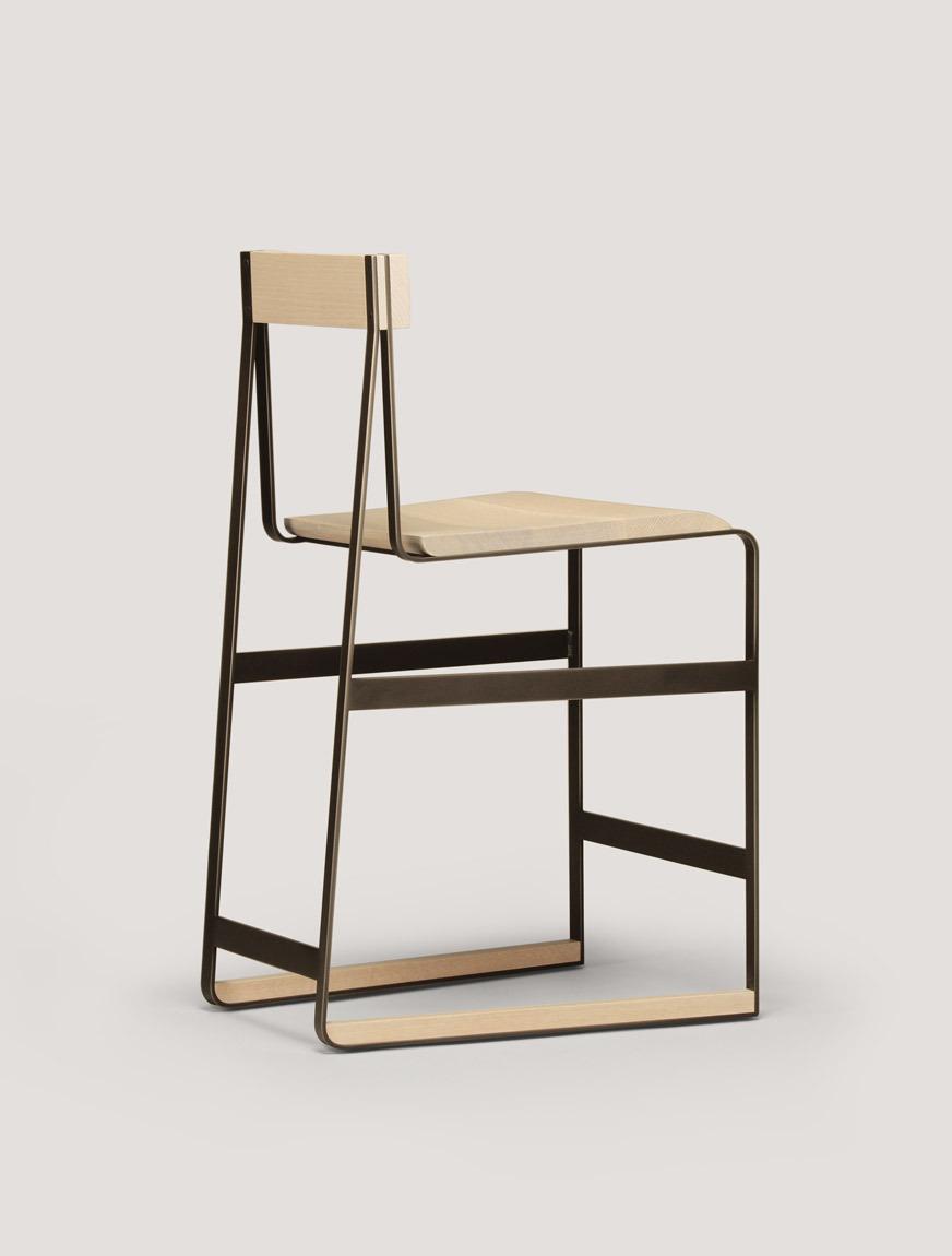 cutting edge furniture. Piedmont Stool \u0026 Chair \u2013 Natural Rift White Oak Timber With Matte Black Metalwork / Cutting Edge Furniture T