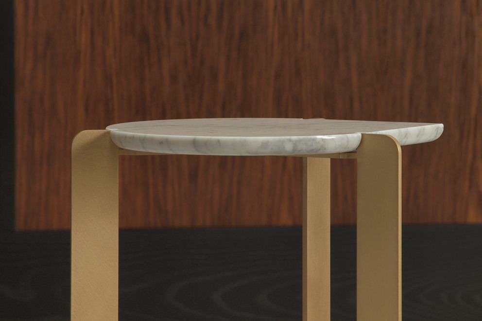 Drop Side Tables Are Constructed Of Stone And Metal And Are Offered In  Three Models. The 2 Cm U0027dropu0027 Shaped Marble Top Features A Reverse Bullnose  Edge ...